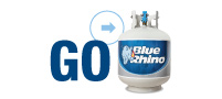 GO enjoy your Blue Rhino propane tank