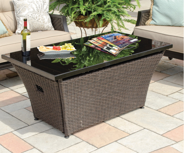 Rectangular Outdoor Fire Table Blue Rhino