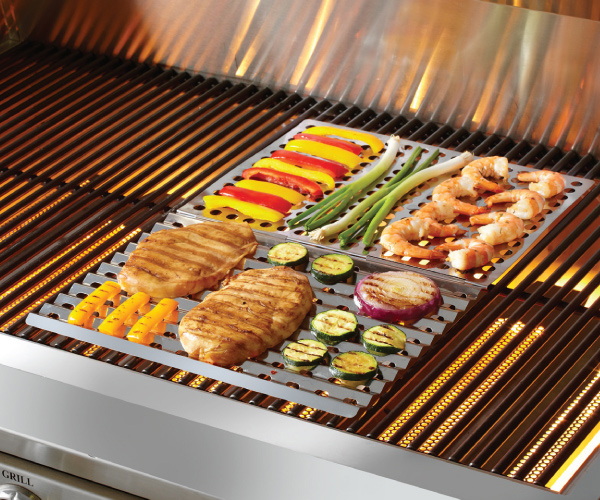 Stainless Steel Dual-Sided Barbecue Sheet 1