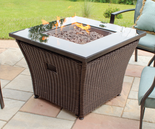Square Outdoor Fire Table Blue Rhino
